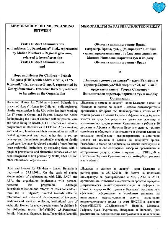 MEMORANDUM VRATSA-1