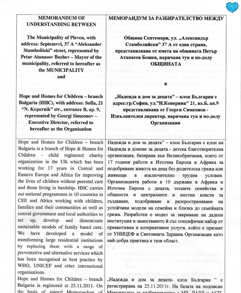 Memorandum s Obshtina Septemvri