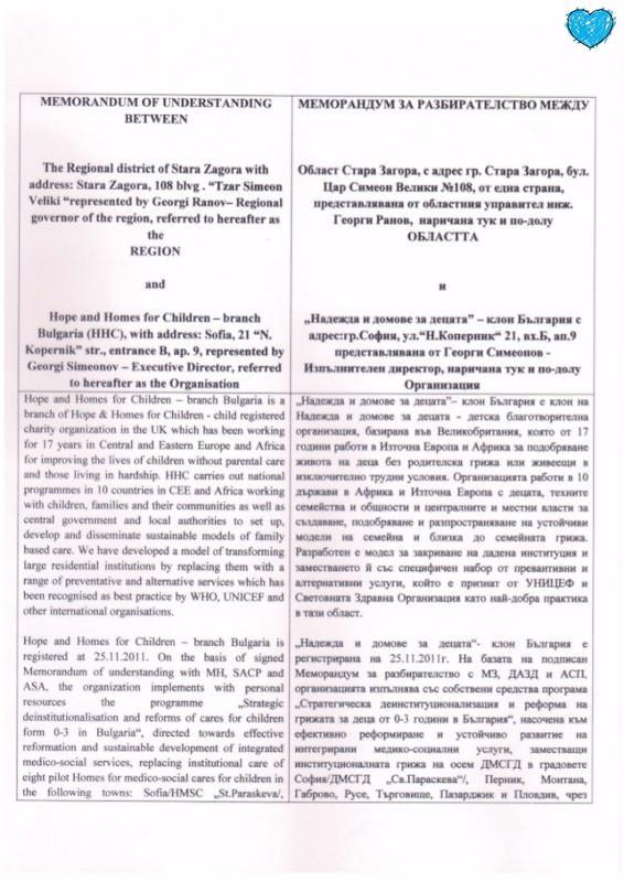 Memorandum - oblastna administracia-Stara Zagora